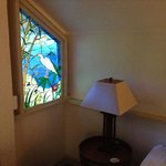 Stain glass window in the room