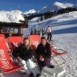 lunch on the slopes of La Clusaz