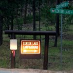 Sign to Center Lake Campground