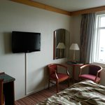 Hotel room: note the nice TV!