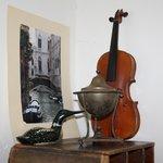 Eksempel på dekoration med de gamle ting i nye omgivelser