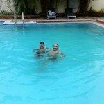cool dip in the pool