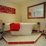 Luxurious bathrooms.