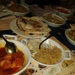 Pollo con nata y arroz pakistani