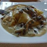 Crêpe de pollo y champiñones