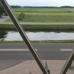 The view from the room on the main road and canal.
