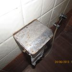 Rusty fixtures in bathroom