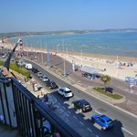 weymouth beach to left