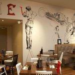 artwork in restaurant