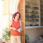 Marianna in front of her shop