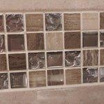 The Angel Hotel bathroom closeup of tiles