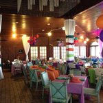 Indoor dining decorated as desired for any event big or small
