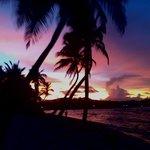 Amazing sunset facing west