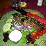 House salad with sirloin