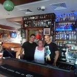 mum with the bar staff