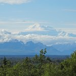 View of Mt. McKinley from the lodge on our 1st night