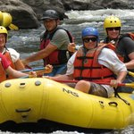Heading for the rapids!
