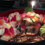 Birthday Sushi cake