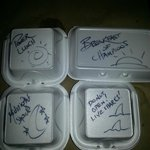Takeout containers from our waiter :o)