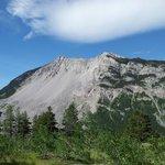 Turtle Mountain from Frank Slide Interpretive Centre