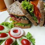 fresh and delicious veggie sandwich!