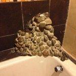 """Detalle en la tina del baño de """"La Flor de Loto"""""""