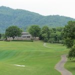 Restaurant overlooks mountains and Apple Valley Golf Course