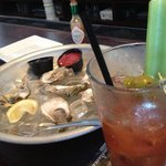 Drink and oysters