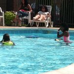 Pool runs 3 feet to 5 feet depths.