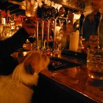 Mavis in for a quick snifter