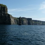 Nearby Cliffs of Moher, via boat tour (highly recommended!), just down the road