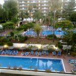 vista piscinas desde la habitación