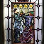One of the beautiful stained glass windows