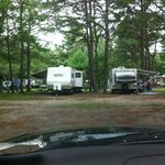"""this was my """"tent"""" site, surrounded by RVs."""
