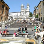The Spanish Steps are just a few blocks away