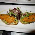 Corail d'oursin, très finement iodé et bien présenté, délicieux
