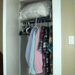 Functional closet for six-day stay