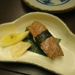 Hida beef sushi