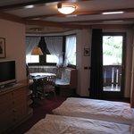 luxurious room with corner nook