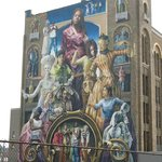 One of many murals that we saw