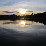 Beautiful sunset over the lake