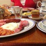 Full English Breakfast w/ Coffee, Tea or Juice.