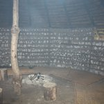 a fire in the roundhouse, which is available for meditation