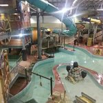 The indoor water park at the JJ Frontier.