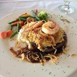 Shrimp Imperial Filet Mignon. Was perfect!