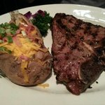 T-Bone and Loaded baked potato