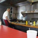 Short order grill at Robert's
