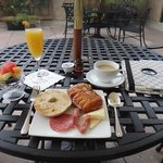 breakfast on the patio