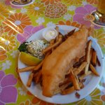 1 piece fish & chip dinner