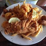 Fried Grouper and Shrimp Platter
